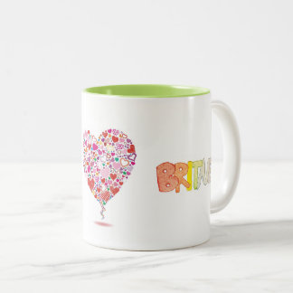 To Britney Two-Tone Coffee Mug