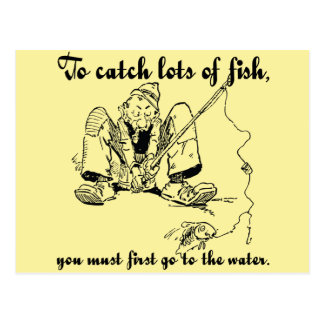 To catch lots of fish - Fishing Wisdom Postcard