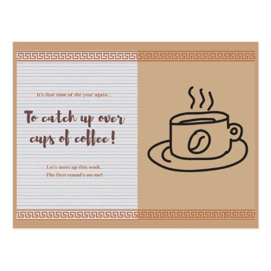 To Catch Up Over Cups Of Coffee Postcard