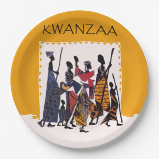 To Celebrate Kwanzaa Party Paper Plates