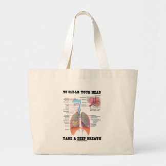 To Clear Your Head Take A Deep Breath Large Tote Bag