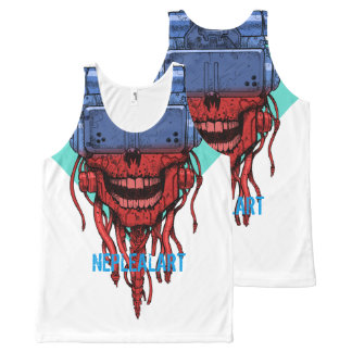 to cyber skull neplealart 2 All-Over-Print tank top