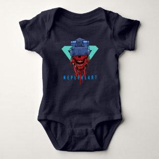 to cyber skull neplealart 2 baby bodysuit