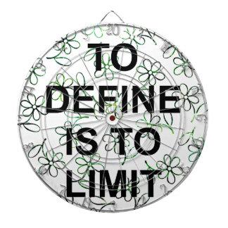 TO DEFINES is TO LIMIT.jpg Dartboard