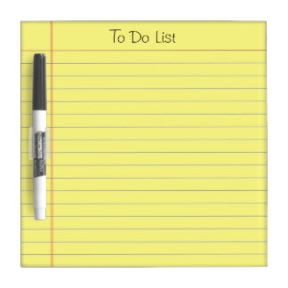 To Do List Dry Erase Whiteboards