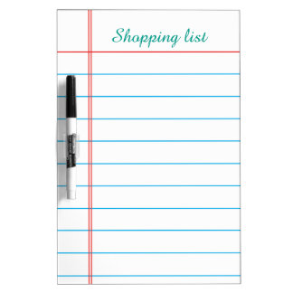 To do List Grocery Stripes Lines Whiteboard