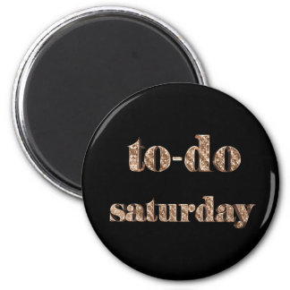 To-do Saturday Elegant Typography Black and Gold Magnet