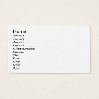 To Do Speech Therapy Business Card