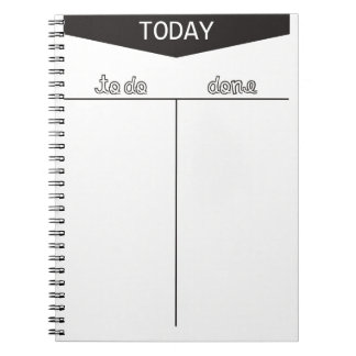 TO DO TODAY DONE LISTS ORGANIZE MOTIVATIONAL SPIRAL NOTEBOOK