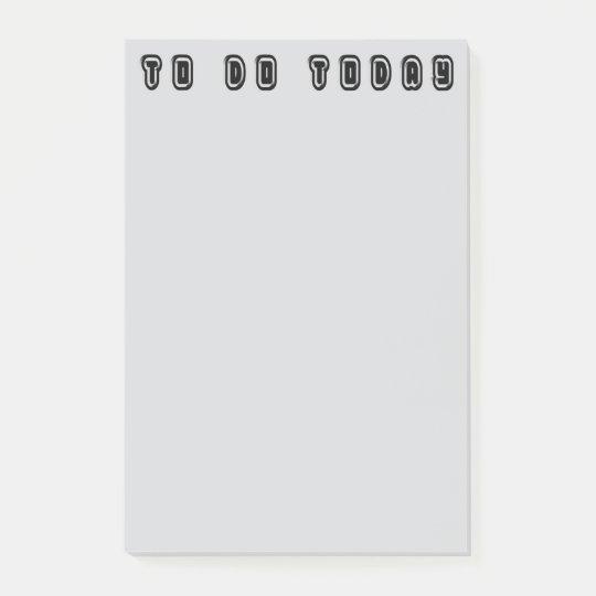 To Do Today Elegant Typography Black Grey Post-it® Notes
