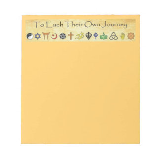 To Each Their Own Journey Notepad