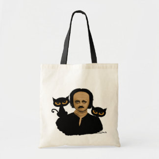 to edgar they allan poe tote bag