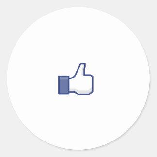 to enjoy Facebook Round Sticker