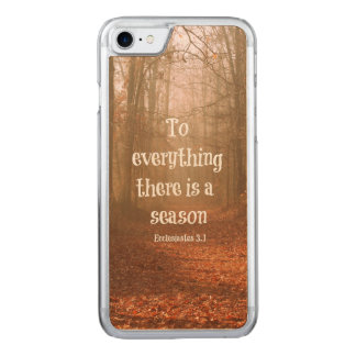 To everything there is a season Bible Verse Carved iPhone 8/7 Case