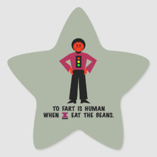 To Fart is Human Star Sticker
