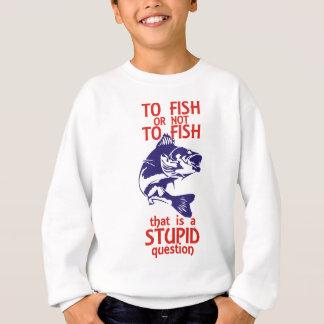 To Fish Red & Blue Sweatshirt