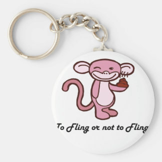 To Fling or Not to Fling? Basic Round Button Keychain
