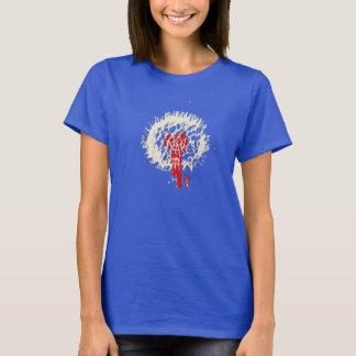 to flower blue tshirt fun design