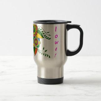 to flower mandala2 travel mug