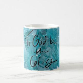 To God Be The Glory Aquamarine Mug