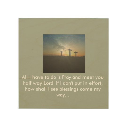 To God (Wood Wall Art) Wood Print