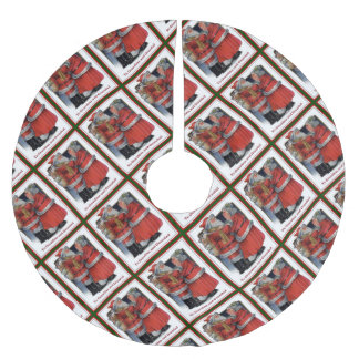 To Grandma and Grandad Mr and Mrs Claus Christmas Brushed Polyester Tree Skirt