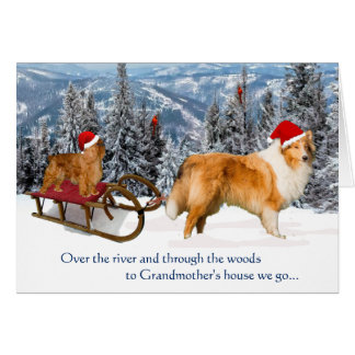 To Grandmother's House Christmas Card