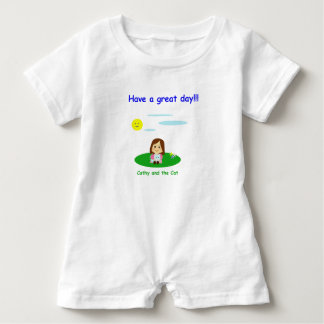 """To great day! "" Baby Romper"