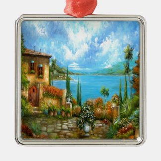 To Heaven and Back Tuscany Design Silver-Colored Square Ornament