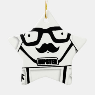 to hipster ceramic ornament