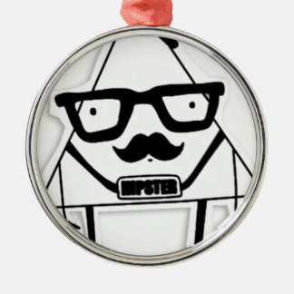to hipster metal ornament