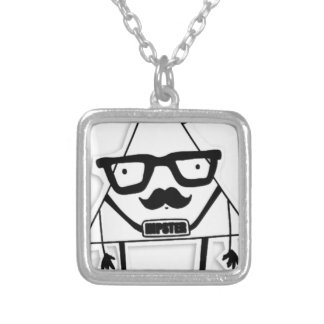 to hipster silver plated necklace
