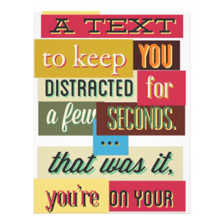 to keep you distracted great design letterhead