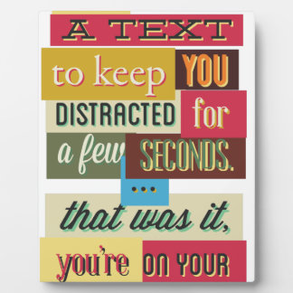 to keep you distracted great design plaque