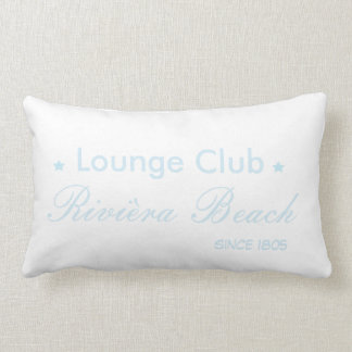 To kiss foyer club blue lumbar pillow