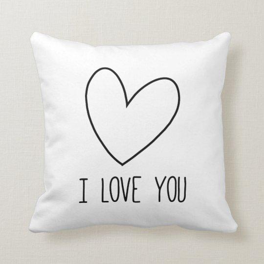 To kiss heart I Love You Throw Pillow