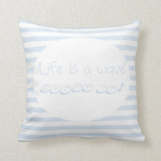 To kiss life is a wave throw pillow