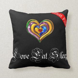 To kiss Love Eat Sleep Throw Pillow