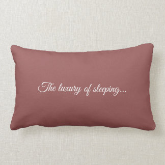 To kiss The luxury or sleeping old roze. Lumbar Pillow