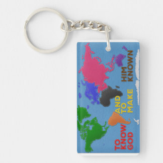 To Know God and to Make Him Known Felted World Keychain