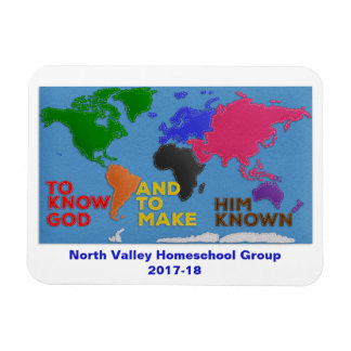 To Know God and to Make Him Known Felted World Magnet