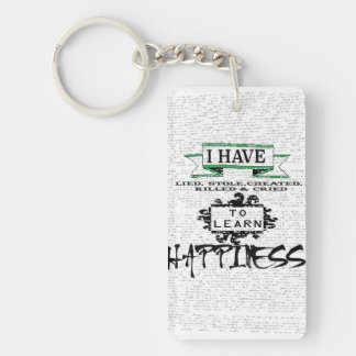 To Learn Happiness Single-Sided Rectangular Acrylic Keychain