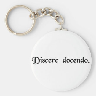 To learn through teaching keychains