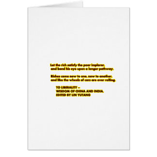 TO LIBERALITY Yellow Red2  Words to Live By jGibne Greeting Card