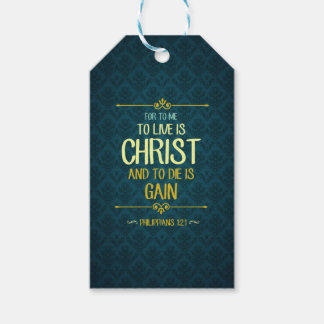 To Live Is Christ - Philippians 1:21 Gift Tags