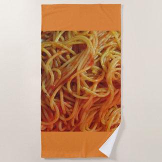 To Love Spaghetti Beach Towel