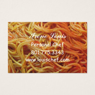 To Love Spaghetti Chef Template Business Card