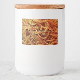 To Love Spaghetti Custom Template Food Label