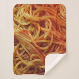 To Love Spaghetti Sherpa Blanket