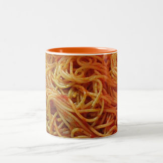 To Love Spaghetti Two-Tone Coffee Mug